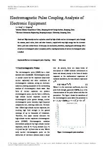 Electromagnetic Pulse Coupling Analysis of Electronic Equipment