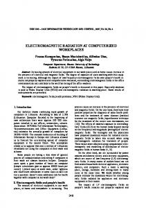 electromagnetic radiation at computerized workplaces - CiteSeerX
