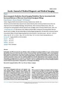 Electromagnetic Radiation-Based Imaging Modalities May be ...
