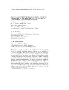 ELECTROMAGNETIC RADIATION FROM SOURCES EMBEDDED IN ...