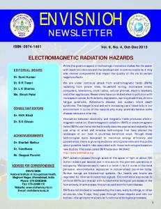 Electromagnetic Radiation Hazards - ENVIS NIOH