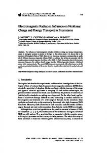 Electromagnetic Radiation Influence on Nonlinear ... - Springer Link