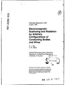 Electromagnetic Scattering and Radiation by Arbitrary Configurations ...