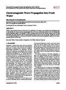 Electromagnetic Wave Propagation into Fresh Water