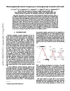 Electromagnetically induced transparency in inhomogeneously