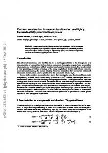 Electron acceleration in vacuum by ultrashort and tightly focused ...