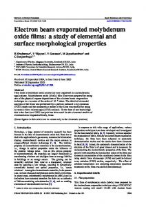 Electron beam evaporated molybdenum oxide films: a ...