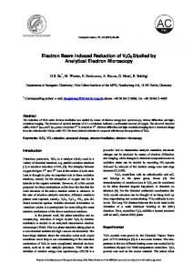 Electron Beam Induced Reduction of V2O5 Studied by ... - CiteSeerX