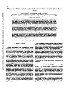 Electron correlation effects in electron-hole recombination in organic ...