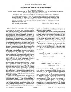 Electron-electron scattering rate in thin metal films - Physical Review ...