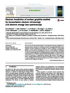 Electron irradiation of nuclear graphite studied by ...