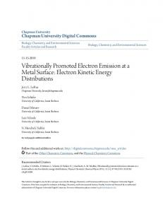 Electron Kinetic Energy Distributions - Chapman University Digital ...