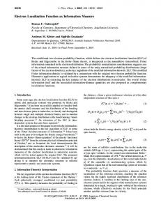 Electron Localization Function as Information Measure - American ...