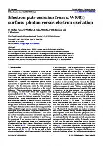 Electron pair emission from a W(001) surface