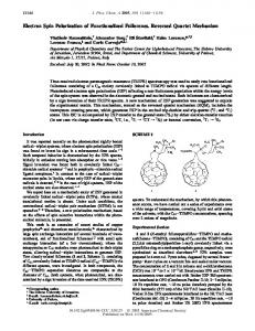 Electron Spin Polarization of Functionalized ... - ACS Publications