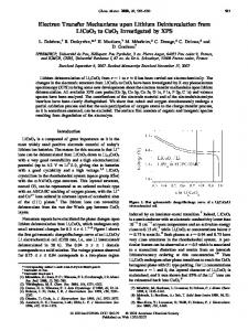 Electron Transfer Mechanisms upon Lithium Deintercalation from ...