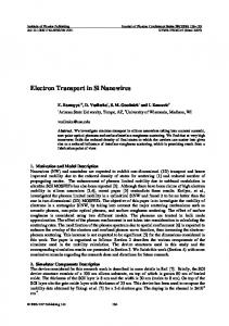 Electron Transport in Si Nanowires
