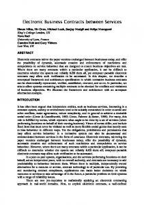 Electronic Business Contracts between Services - Semantic Scholar