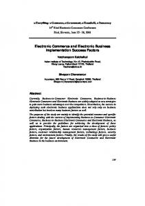 Electronic Commerce and Electronic Business Implementation ...