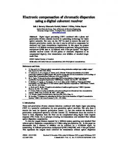 Electronic compensation of chromatic dispersion ... - OSA Publishing