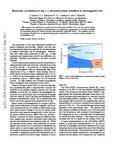 Electronic correlations at the alpha-gamma structural phase transition ...