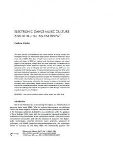 electronic dance music culture and religion: an overview