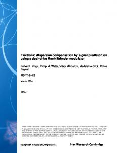 Electronic dispersion compensation by signal ...
