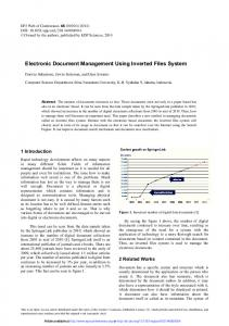 Electronic Document Management Using Inverted Files System
