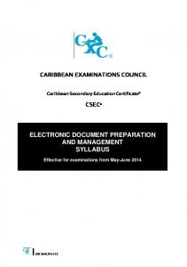 Electronic Document Preparation and Management - Caribbean ...
