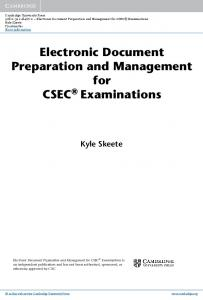 Electronic Document Preparation and Management for CSEC ...