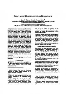 electronic governance and democracy