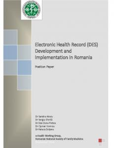 Electronic Health Record - SNMF