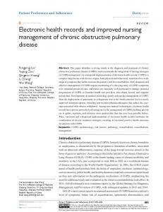 electronic health records and improved nursing ... - Semantic Scholar