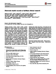 Electronic health records to facilitate clinical research - Spiral