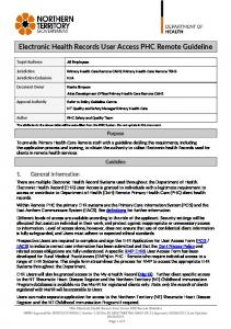 Electronic Health Records - User Access