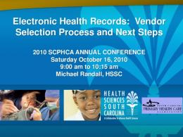 Electronic Health Records: Vendor Selection Process ...