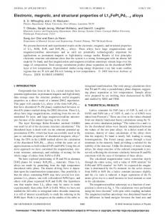 Electronic, magnetic, and structural properties of ... - Andrew.cmu.edu