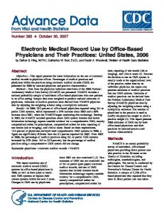 Electronic Medical Record Use by Office-Based Physicians and Their ...
