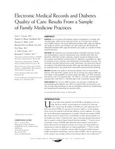 Electronic Medical Records and Diabetes Quality of Care: Results ...