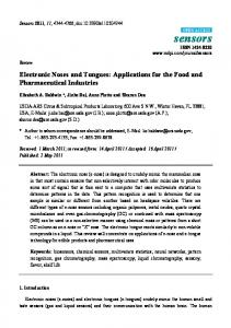 Electronic Noses and Tongues: Applications for the Food and ...