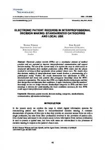 electronic patient records in interprofessional ... - JYX front page