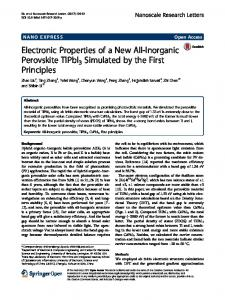 Electronic Properties of a New All-Inorganic Perovskite ... - Springer Link
