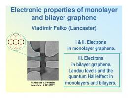 Electronic properties of monolayer and bilayer graphene
