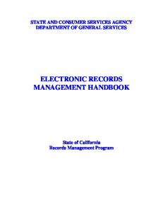 ELECTRONIC RECORDS MANAGEMENT HANDBOOK