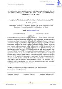 (Electronic) Shally Awasthi et al. May Edition DEVELOPMENT AND