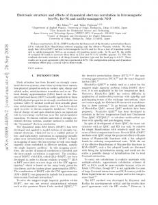 Electronic structure and effects of dynamical electron correlation in ...