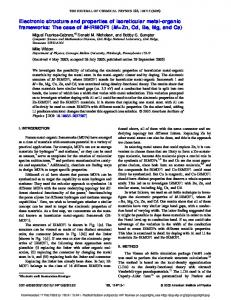 Electronic structure and properties of isoreticular ... - Semantic Scholar