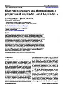 Electronic structure and thermodynamic properties of Ce3Rh4Sn13