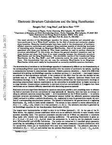 Electronic Structure Calculations and the Ising Hamiltonian