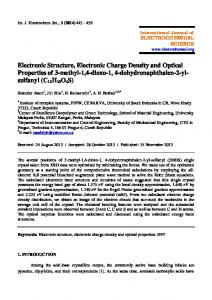 Electronic Structure, Electronic Charge Density and Optical Properties ...